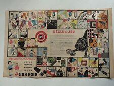 jeu de l'oie publicitaire Lion Noir Beatrice Mallet Trottinette et Trottinet