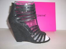 Betsey Johnson Size 8.5 Black Wedge Sandals New Womens Shoes