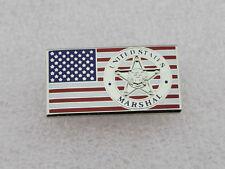 US Marshal badge pin on Flag Lapel Pin