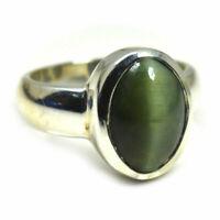 Echtes Katzenauge Silber Ring 5 Karat Chakra Heilung astrologischen Edelstein