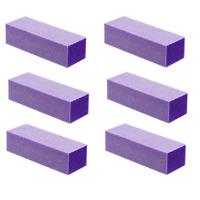 24pc White Grit Purple Sanding 3-Way 60/60 Nail Buffer Blocks NEW