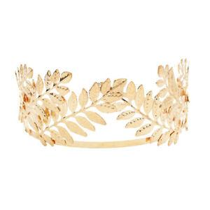Women's Gold Headband Leave Crown Hairband Hair Accessories Wedding Party Tiara