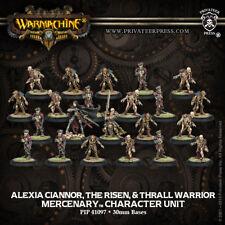 Warmachine: Mercenaries Alexia Ciannor, The Risen & Thrall Warrior PIP 41097