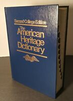 Second College Edition The American Heritage Dictionary Hardcover Book 1982