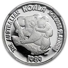 RARE ~ 1989 P ~ $15 PLATINUM ~ PERFECT KOALA BEAR ~1/10~OZ~ NGC PF~70 UC~$488.88