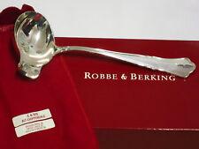 ROBBE BERKING R&B ALT CHIPPENDALE SAUCEN LÖFFEL 925 STERLING SILBER BESTECK