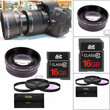 HD TELEPHOTO ZOOM LENS + FILTER KIT +16GB FOR CANON EOS REBEL T1 T2 T3 T4 T5