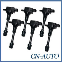 6Pcs Ignition Coil 22448-AR215 For Nissan Patrol GU 4.8L TB48DE 2001-2007