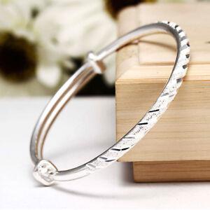 Adjustable 925 Sterling Silver Bangle Bracelet Beads Ladies Jewellery Gift UK.