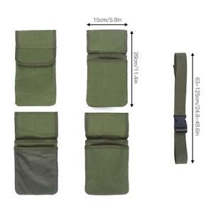 1X 125cm Garden Tool Bag Waist Belt 4-Pockets Storage Organizer Gardening