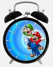 "Super Mario Luigi Alarm Desk Clock 3.75"" Home or Office Decor W234 Nice For Gift"