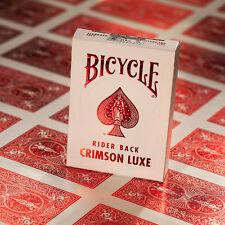 Tarjetas Bicycle Metal Luxe Rojo Crimson