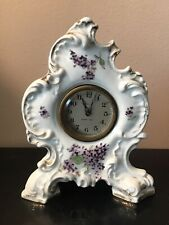 Antique Ansonia China Porcelain 8 Day Clock Works!