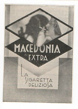 Pubblicità 1935 MACEDONIA SIGARETTE SMOKE CIGARETTE old advert werbung publicitè