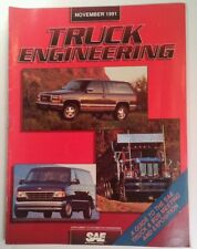 Truck Engineering Magazine Vtg Nov 1991 RARE VHTF ADS SAE Hybrid Head-Up