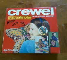 Vintage Crewel Embroidery Kit 1970s
