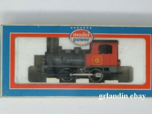Vintage HO-Scale Model Power Steam Engine Switcher #6 BOXED NEW