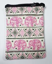 New Cute Thai Elephant Fabric Shoulder Bag Purse Cross Body Wallet Fabric Zip