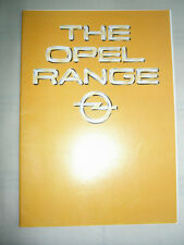 Opel range brochure Sep 1980 Ascona, Manta, Senator, Monza