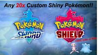 Pokemon Sword and Shield | Any Shiny | 20x 6iv Pokemon | FREE Mew or Ditto