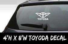 Funny Toyoda Star Wars Yoda Decal Sticker JDM Vinyl Window Bumper Wall Toyota