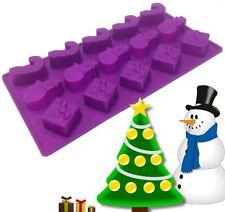 Silikonform Wintermotive, Backform für Pralinen, Minikuchen, Plätzchen, Cupkake