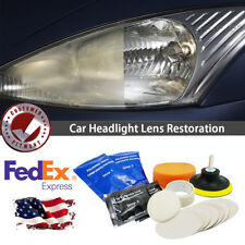 Headlight Lens Restoration Repair System Headlamp Renewer Removes Yellow Stain