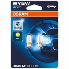WY5W (501A) 12V 5W OSRAM DIADEM CHROME 2827DC-02B Kontrollleuchte NEU Twin