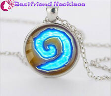 Silver WoW World of Warcraft Hearthstone Jewelry Glass Dome Pendant Necklace#T5