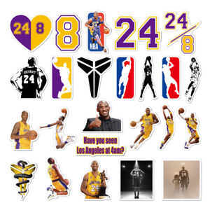 74 pc Kobe Bryant Vinyl Stickers for laptop bumper window waterbottle, USA Ship!