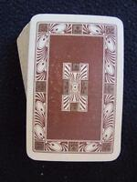 VINTAGE 1930's BOXED PACK OF GOODALL PLAYING CARDS - SCROLLING DESIGN