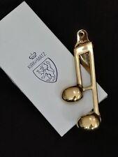 Kirk & Matz Musical NoteDoor Knocker, Made in England of Solid Brass, new