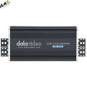 Datavideo TC-100 & CG-200 HDMI Character Generator & HDMI Title Creator Kit