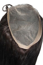 7x9 Full Lace Silk Top Closure Indian Remy Remi 100% Human Hair Partial Wig 14""