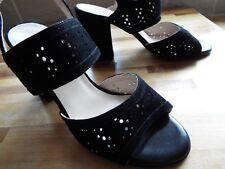 Peter Kaiser Boutique Sling Back Sandal black velvet size 4 new RETAILS £180