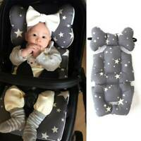 Polyester Baby Soft Car Seat Stroller Cushion Pad Mat Head Body Support Pillow
