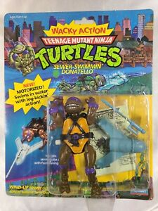 1989 TEENAGE MUTANT NINJA TURTLES TMNT SEWER-SWIMMIN' DONATELLO NEW IN BOX NR!
