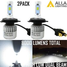 Alla Lighting 2x8000lm H4 9003 Super White CSP LED Headlight Conversion Kit Bulb
