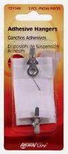 2 pks. Hillman 1-1/2 lb Steel Single Adhesive Wall Hanger Hook 5 pk 121148