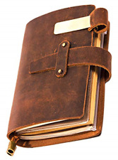 Genuine Leather Notebook - Notepad For Men & Women, Leather Travel Journal with