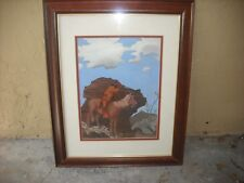 Framed Signed Indian Sharpshooter New Mexico Painting
