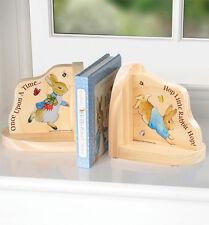 *NEW* Classic Beatrix Potter - Peter Rabbit Wooden Wood Bookends 15cm