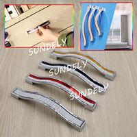 10X Crystal Modern Cabinet Knobs Wardrobe Pull Bar Drawer Door Cupboard Handle