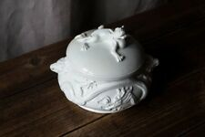 Sucrier ancien faience blanche animaux dragon