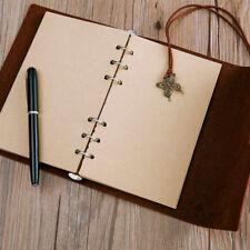 80 Hojas Cuaderno Recambio Interior A5/A6A7 Papel Páginas Vintage Retro de Kraft