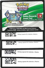 Pokemon 2 MEWTWO+2 PIKACHU Shining Legends PIN BOX CODES NEW -MESSAGE IN 24 HRS