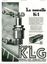 Publicité ancienne voiture automobile nouvelle bougie 1931 issue magine