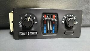2003-04 Silverado Sierra Manual HVAC Heater AC Control Switch 15107752 TESTED