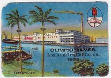 USA Embossed Cinderella: Los Angeles Olympic Games, 1932: Argentina - dw822.20