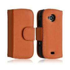 housse coque etui portefeuille pour Samsung Player 5 S5560 couleur orange + Film